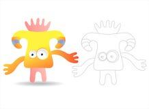 Livre de page de coloration pour des gosses - jolis monstres Photographie stock libre de droits