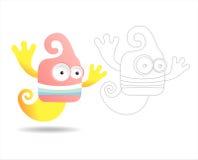 Livre de page de coloration pour des gosses - jolis monstres Images libres de droits