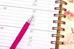 Livre de planification Photo libre de droits