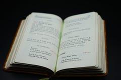 Livre de prière belge avec des psaumes de l'année 1966 photo libre de droits