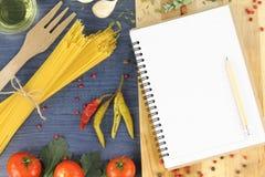 Livre de recette Photos stock