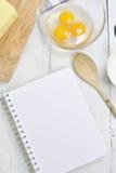 Livre de recette Photographie stock libre de droits