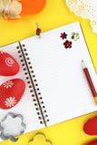 Livre de recette de Pâques Photos libres de droits