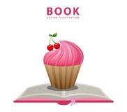 Livre de recette de petit gâteau Image stock