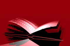 Livre de rouge de sang Images libres de droits