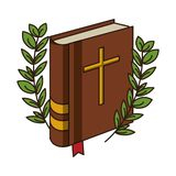 Livre de Sainte Bible illustration stock