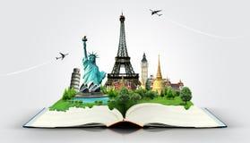 Livre de voyage Photographie stock libre de droits