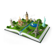 Livre de voyage illustration stock
