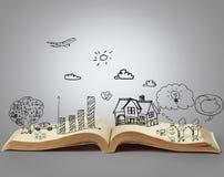 Livre des histoires d'imagination Photo stock