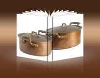 Livre des pots de cuivre antiques Image libre de droits