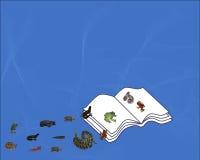 Livre des reptiles et des amphibies Photo libre de droits
