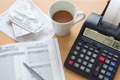 Livre des ventes de comptabilité Images stock