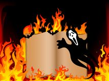 Livre en feu Images stock