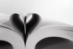 Livre en forme de coeur Image stock