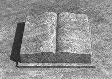 Livre en pierre image libre de droits