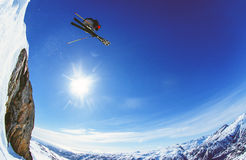 Livre-esqui na geleira de Appusuit, Greenland imagem de stock royalty free