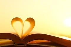 Livre et amour Photo libre de droits