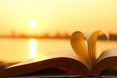 Livre et amour Image libre de droits