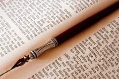 Livre et crayon lecteur Image stock