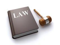 Livre et marteau de loi Photographie stock libre de droits