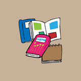 Livre et note Image libre de droits