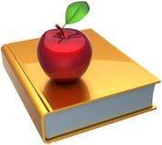 Livre et pomme d'école apprenant le symbole Photos stock