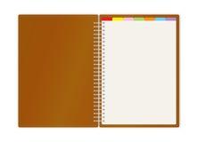 Livre hebdomadaire de planificateur de projet d'affaires Images libres de droits