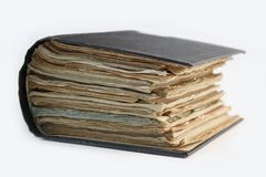 Livre jauni antique Image stock