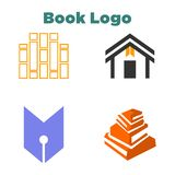 Livre Logo Template illustration de vecteur