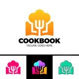 Livre Logo Template Design Vector Design de recette Photos stock