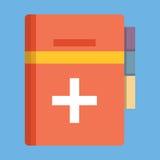Livre médical Illustration de vecteur, conception plate de style d'icône Image libre de droits
