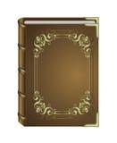 Livre magique dans une couverture brune élégante Image stock