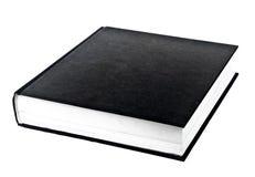Livre noir dans la rangée Photos libres de droits