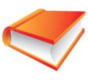 Livre orange 3d Images libres de droits