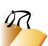 Livre ouvert d'homme d'ombre illustration stock