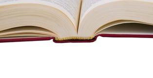 Livre ouvert d'isolement avec le texte Image stock