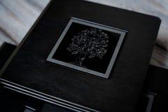 Livre ouvert - plan rapproché de photoalbum images stock