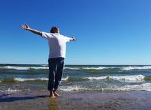 Livre pelo mar Fotografia de Stock
