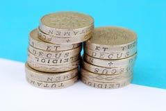 livre R-U de pièces de monnaie photo libre de droits