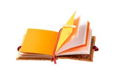 Livre romantique de note d'isolement sur le fond blanc Photo libre de droits
