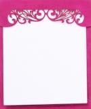 Livre rose de bloc - notes Image stock