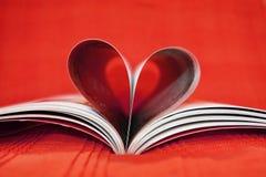 Livre rouge de coeur Photos libres de droits