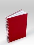 Livre rouge de note de couverture Image stock