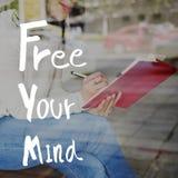 Livre seu conceito positivo do frio do abrandamento da mente fotografia de stock royalty free