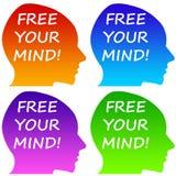 Livre sua mente Imagem de Stock Royalty Free