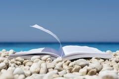 Livre sur la plage Photographie stock