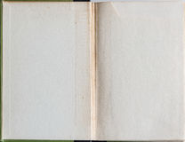 Livre vide ouvert à la première page Photographie stock libre de droits