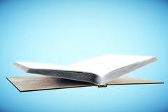 Livre vide sur le fond bleu illustration libre de droits
