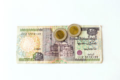 20 livres égyptiennes de billet de banque, EGP Image stock