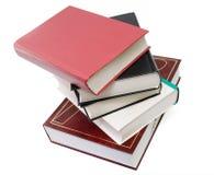 Livres épais dans la pile, d'isolement Image stock
